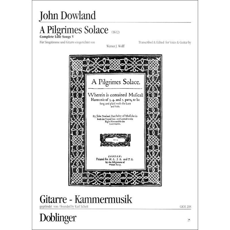 Titelbild für GKM 208 - A PILGRIM'S SOLACE - COMPLETE LUTE SONGS 5
