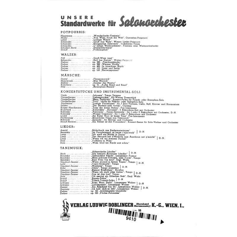 Notenbild für SO 96 - VILJA LIED