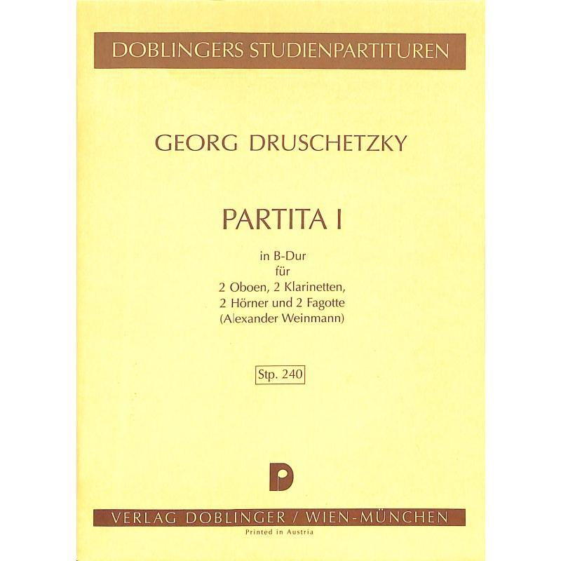 Titelbild für STP 240 - PARTITA 1 B-DUR