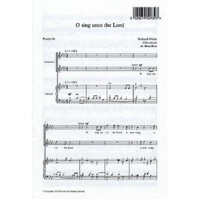 Titelbild für MSNOV 401566 - O SING UNTO THE LORD