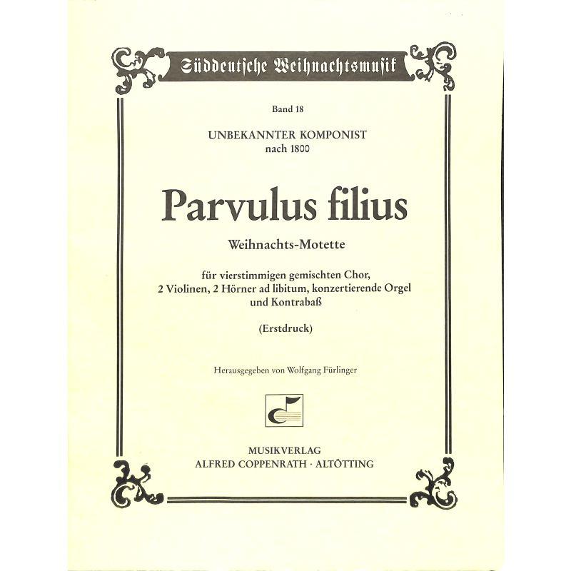 Titelbild für COPP 12018-01 - PARVULUS FILIUS - WEIHNACHTSMOTETTE