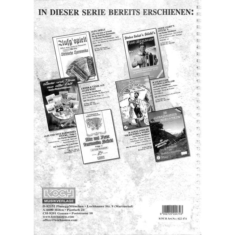 Notenbild für MICHLBAUER 022474 - VOLKSMUSIK IM JAHRESKREIS