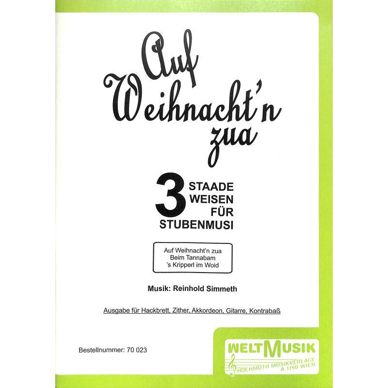 Titelbild für WM 70023 - AUF WEIHNACHT'N ZUA