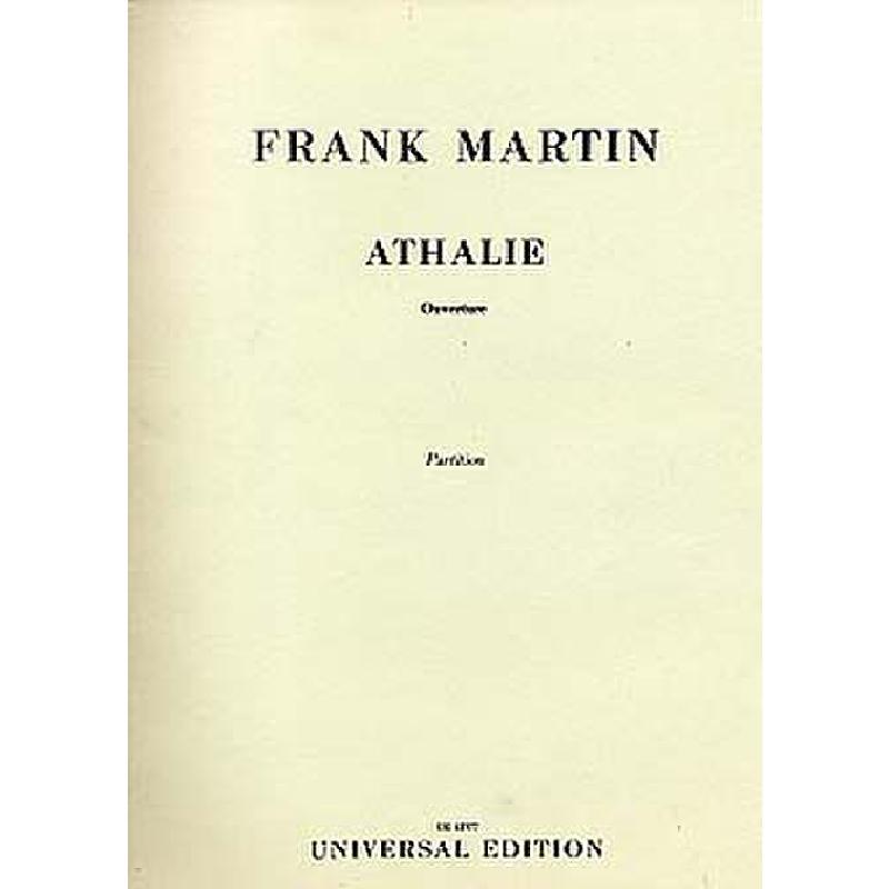 Titelbild für UE 12377 - OUVERTUERE ZU RACINES ATHALIE