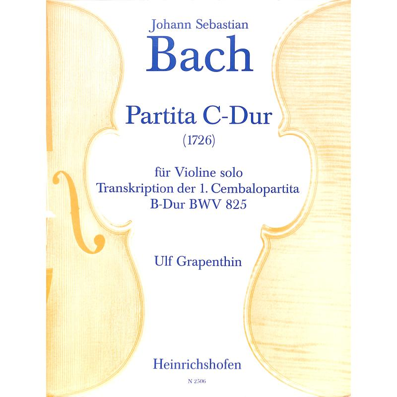 Titelbild für N 2506 - PARTITA C-DUR (PARTITA 1 B-DUR BWV 825 CEMB)