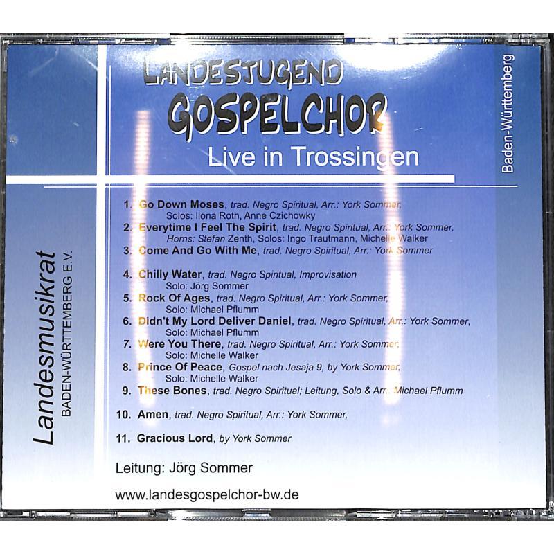 Notenbild für SOMMER 1-CD - LIVE IN TROSSINGEN (PRAISE THE LORD)