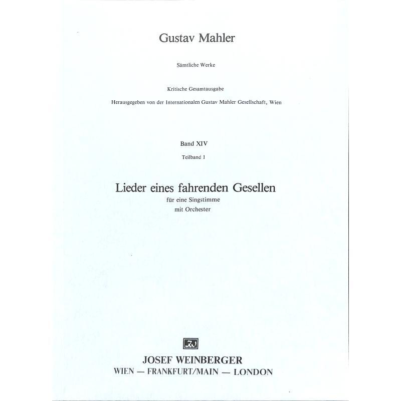 Titelbild für WEINB 69-10 - LIEDER EINES FAHRENDEN GESELLEN
