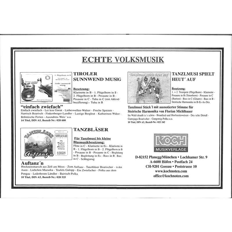 Notenbild für MICHLBAUER 028650 - LEICHTE SPIELSTUECKE FUER TANZLMUSI