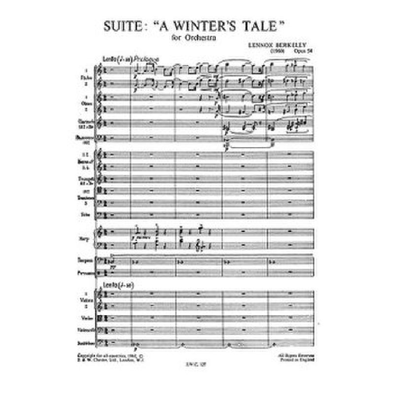 Titelbild für CH 00127 - A WINTERS TALE SUITE OP 54 FOR ORCHESTRA
