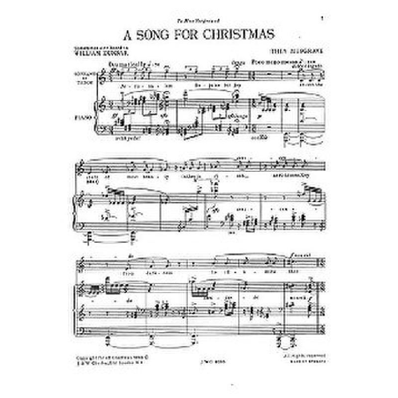Titelbild für CH 04065 - A SONG FOR CHRISTMAS