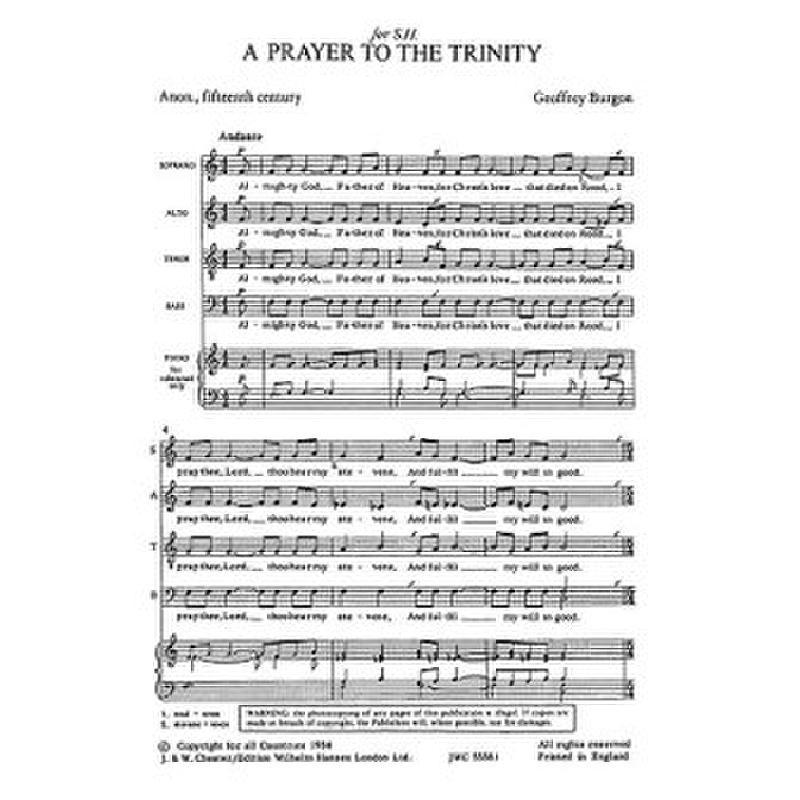 Titelbild für CH 55581 - A PRAYER TO THE TRINITY (1972)