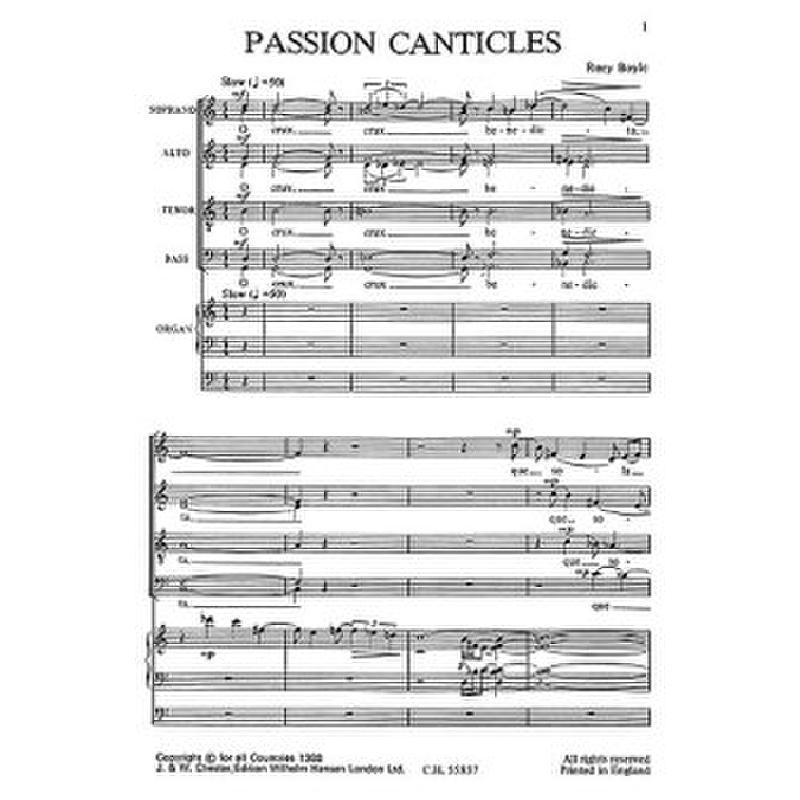 Titelbild für CH 55857 - PASSION CANTICLES