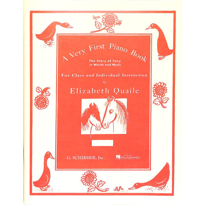 Titelbild für GS 32742 - A VERY FIRST PIANO BOOK THE STORY OF TONY