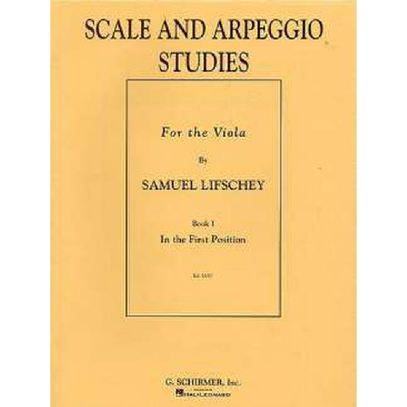 Titelbild für HL 50327520 - SCALE + ARPEGGIO STUDIES BOOK 1