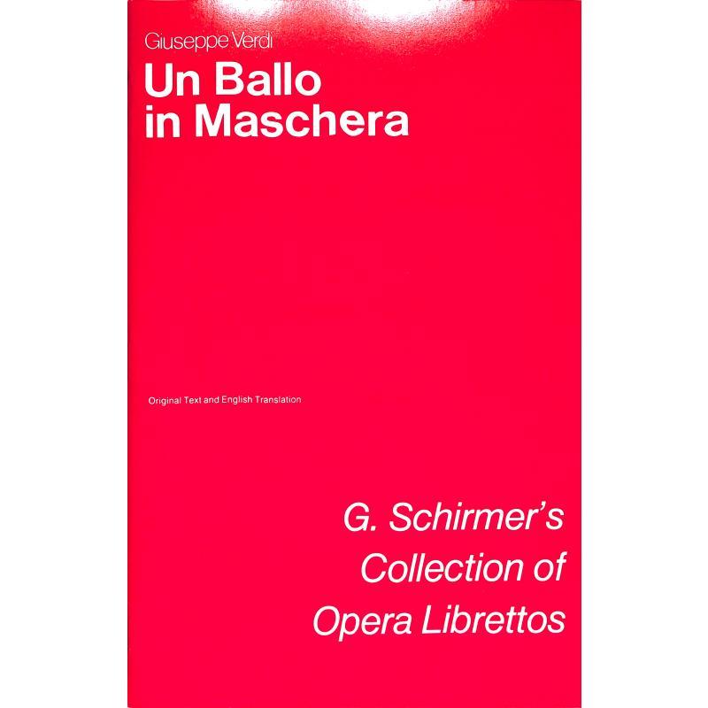 Titelbild für GS 34041 - UN BALLO IN MASCHERA (EIN MASKENBALL)