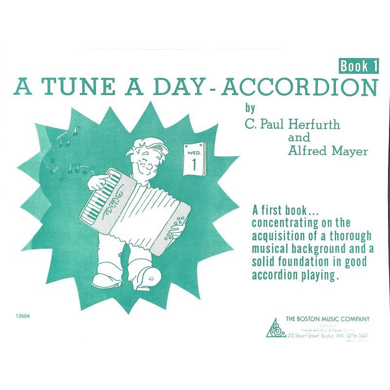 Titelbild für MSBM 10363 - A TUNE A DAY ACCORDION BOOK 1