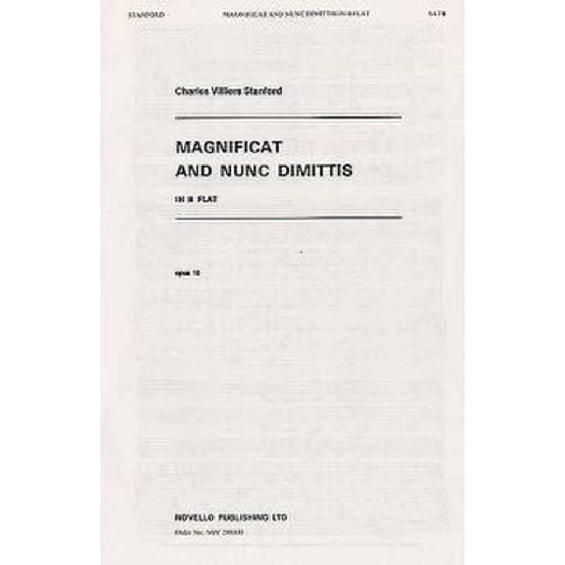 Titelbild für MSNOV 290333 - MAGNIFICAT + NUNC DIMITTIS B-DUR