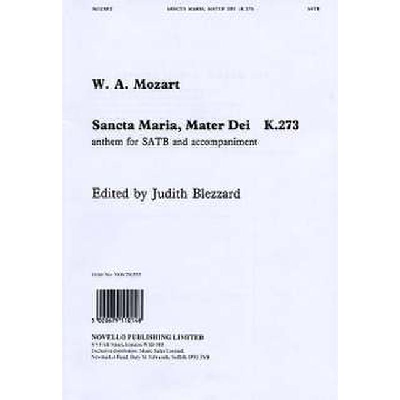 Titelbild für MSNOV 290555 - SANCTA MARIA MATER DEI KV 273
