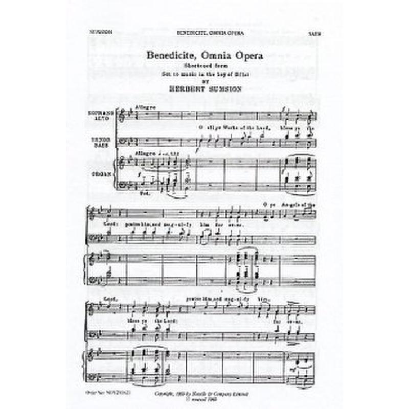 Titelbild für MSNOV 290623 - BENEDICITE OMNIA OPERA