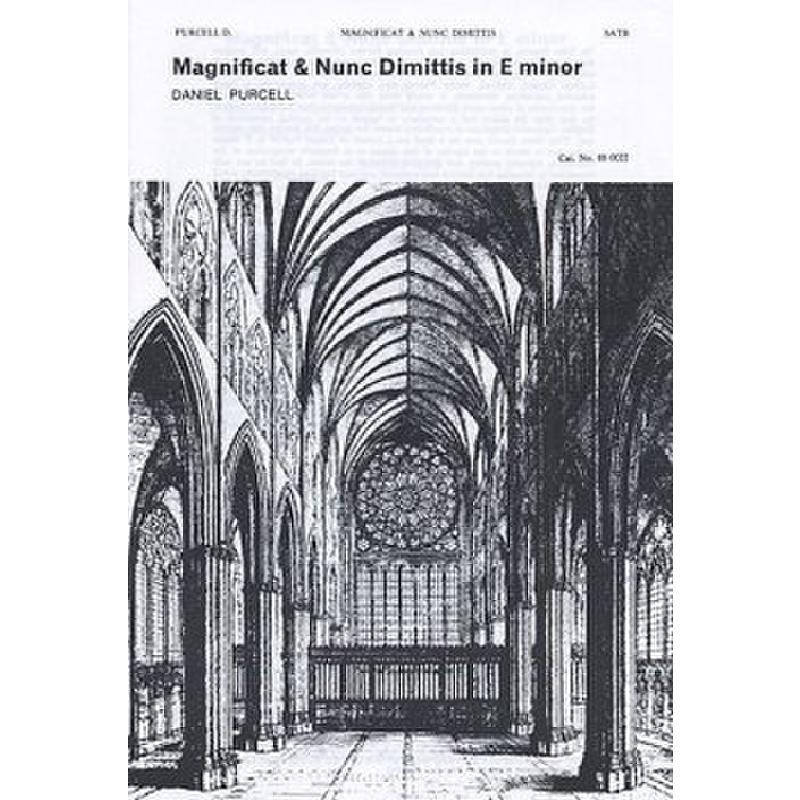 Titelbild für MSNOV 880022 - MAGNIFICAT + NUNC DIMITTIS IN E
