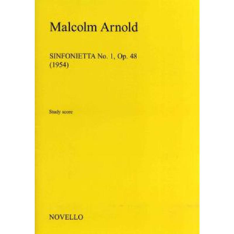 Titelbild für MSNOV 958155 - SINFONIETTA 1 OP 48