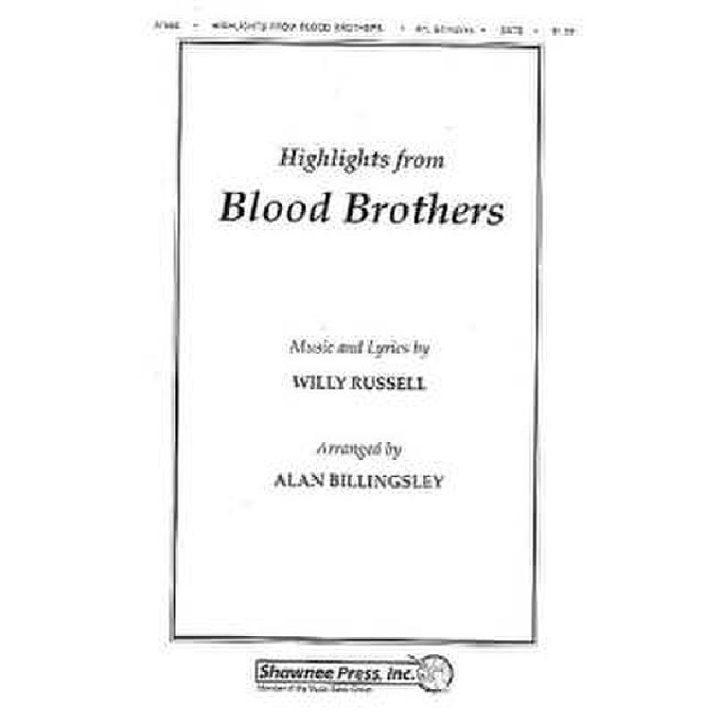 Titelbild für MSSP 19698 - BLOOD BROTHERS HIGHLIGHTS