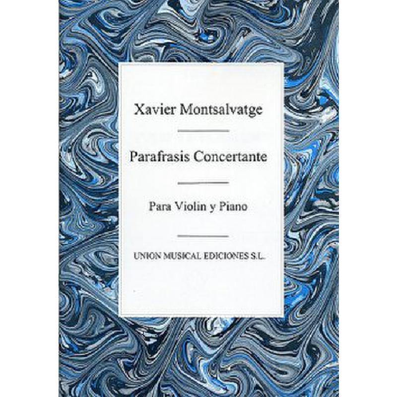 Titelbild für UME 22119 - PARAFRASIS CONCERTANTE
