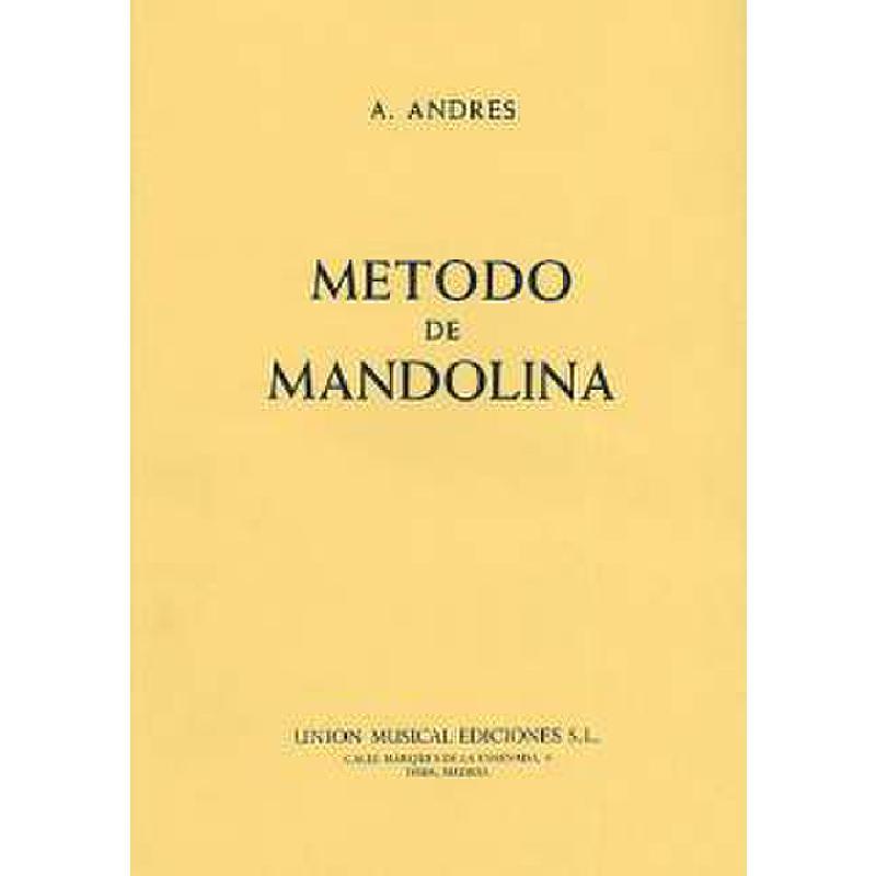 Titelbild für UMG 16670 - METODO DE MANDOLINA