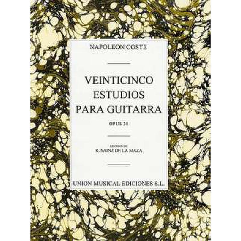 Titelbild für UMG 18834 - 25 ESTUDIOS PARA GUITARRA