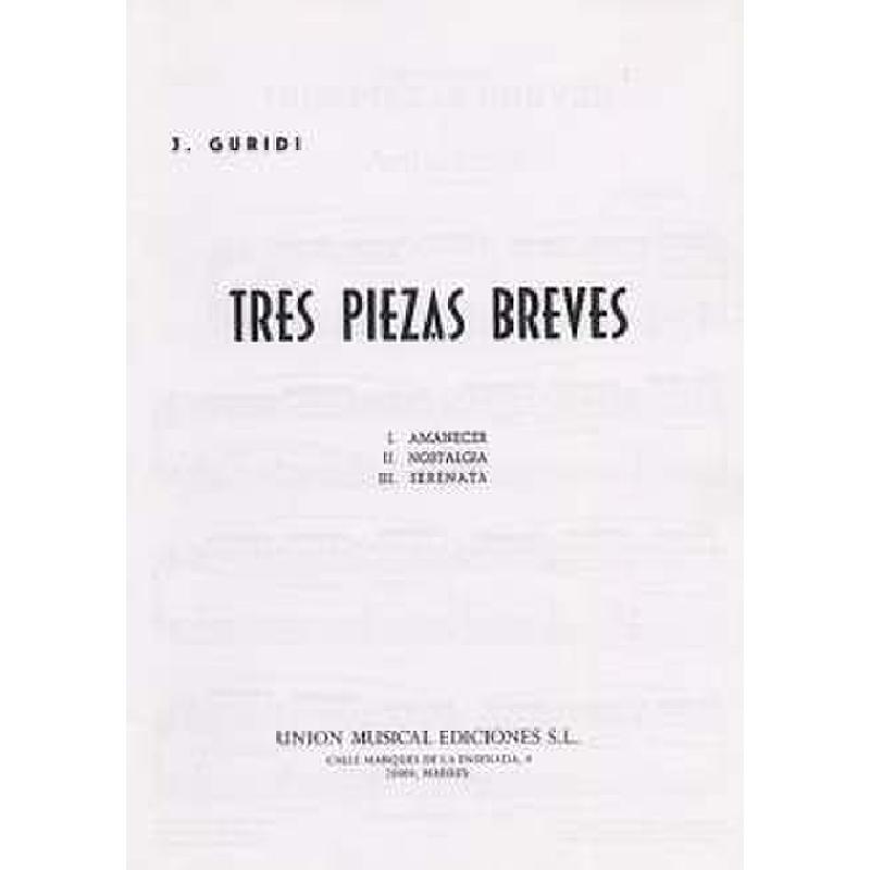Titelbild für UMP 71270 - 3 PIEZAS BREVES