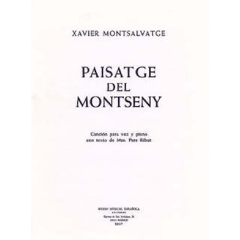 Titelbild für UMV 22437 - PAISATGE DEL MONTSENY