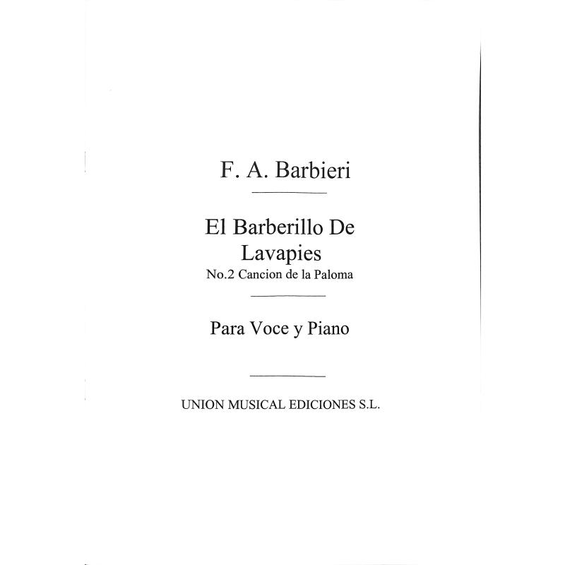 Titelbild für UMV 50602 - CANCION DE LA PALOMA 2 (EL BARBERILLO DE LAVAPIES)