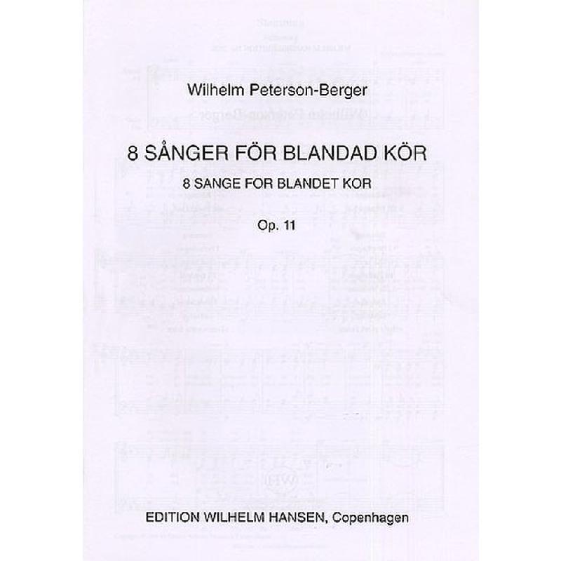 Titelbild für WH 12018 - 8 SANGE OP 11