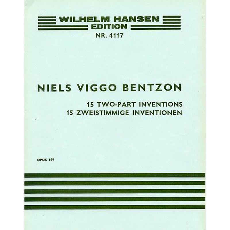 Titelbild für WH 28762 - ZWEISTIMMIGE INVENTIONEN OP 159