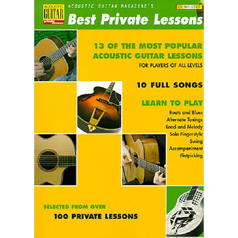 Titelbild für HL 695603 - ACOUSTIC GUITAR MAGAZINE'S BEST PRIVATE LESSONS