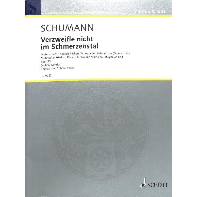 Titelbild für ED 9982 - VERZWEIFLE NICHT IM SCHMERZENSTAL OP 93