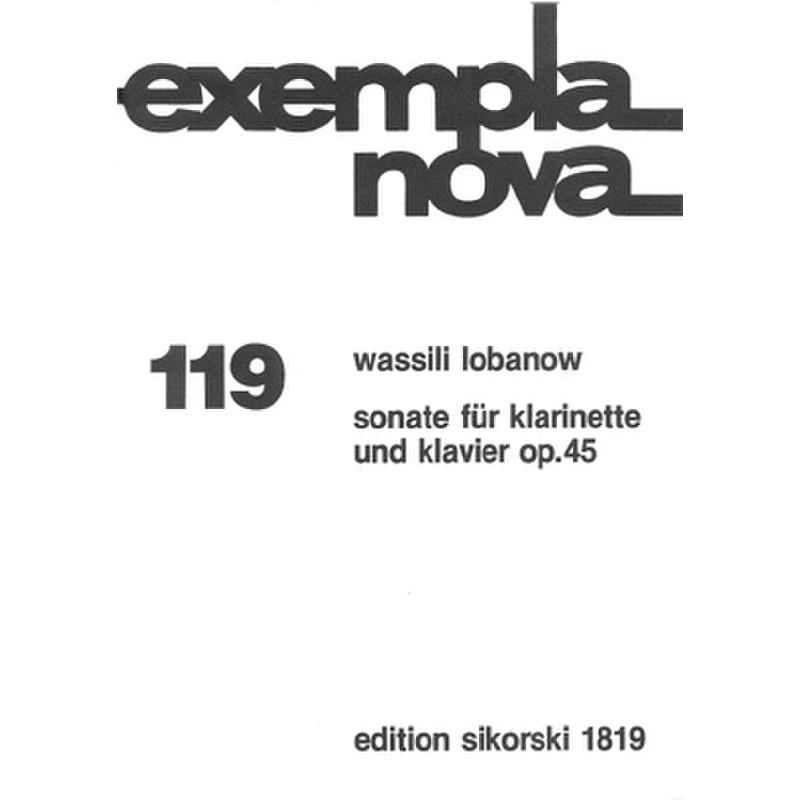 Titelbild für SIK 1819 - SONATE OP 45