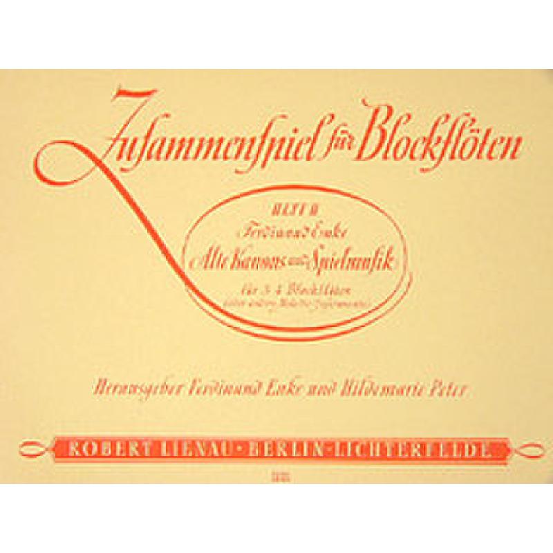 Titelbild für RL 15720 - ZUSAMMENSPIEL FUER BLOCKFLOETEN BD 2