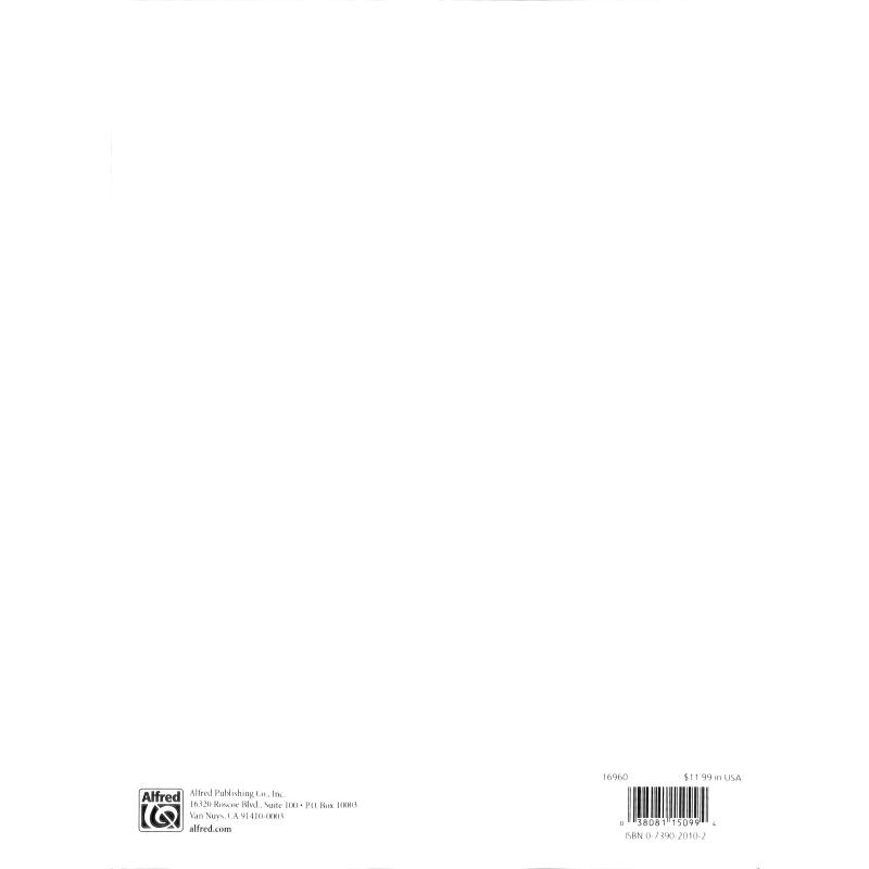 Notenbild für ALF 16960 - INTERNATIONAL FOLK SONGS