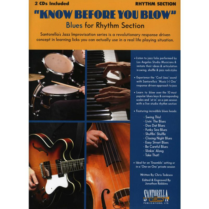 Titelbild für SANTOR -TS437 - KNOW BEFORE YOU BLOW - BLUES FOR RHYTHM SECTION