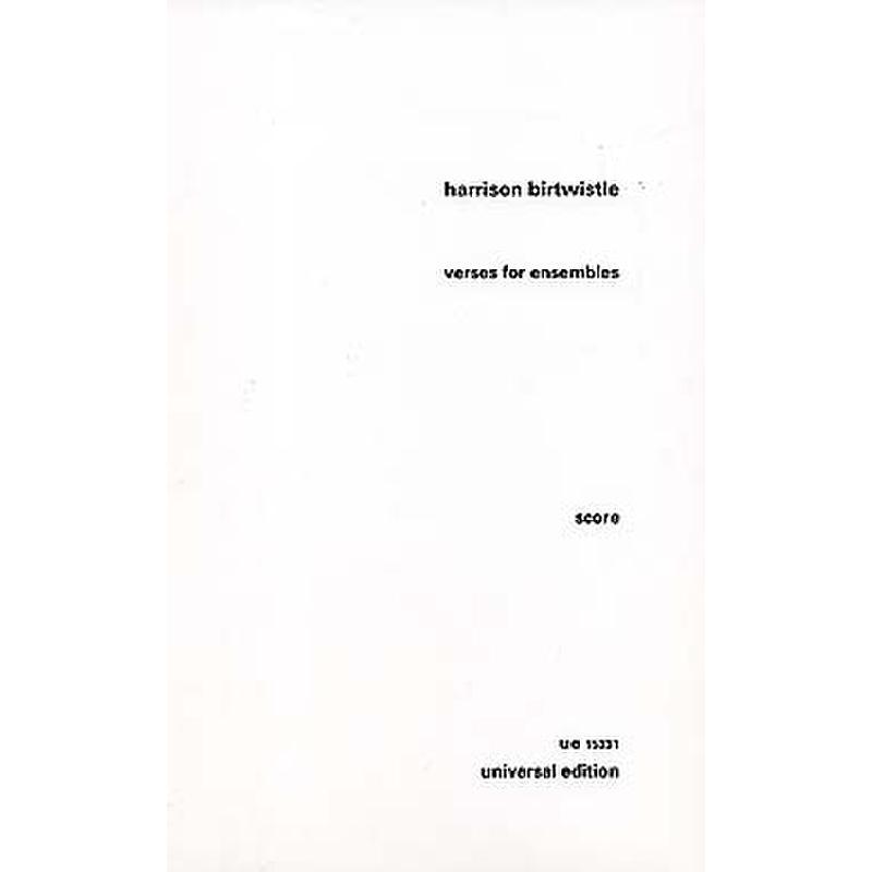 Titelbild für UE 15331 - VERSES