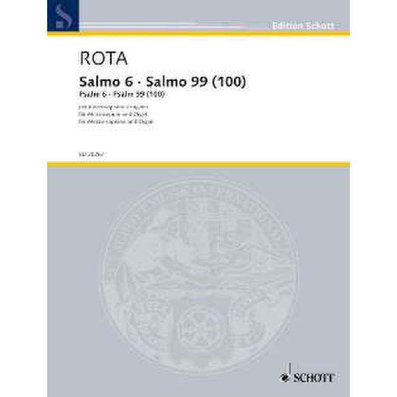 Titelbild für ED 20267 - SALMO 6 - SALMO 99 (1943)