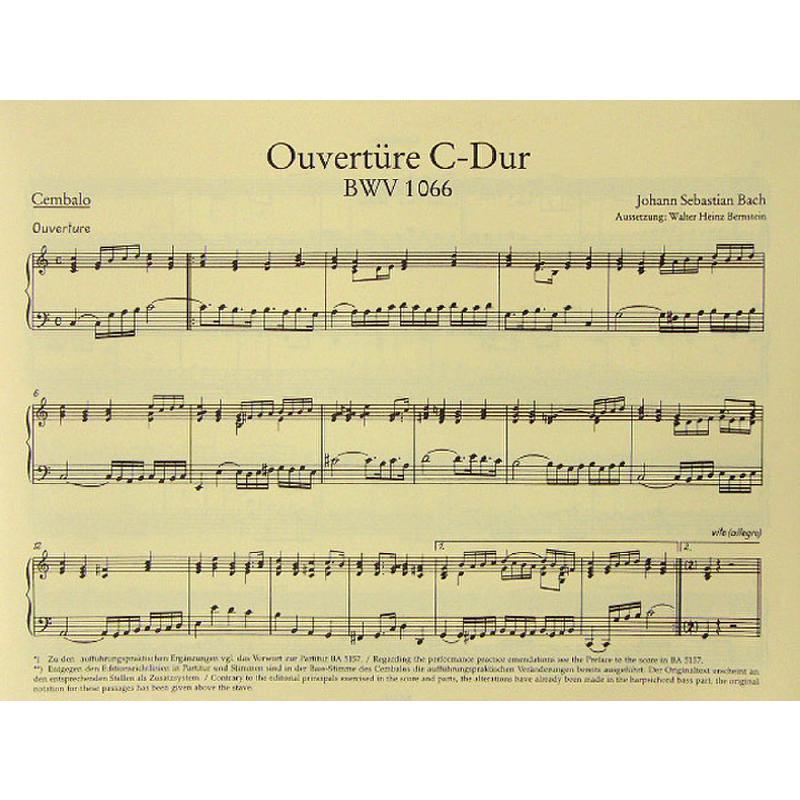 Titelbild für BA 5252-68 - Ouvertüre (Orchestersuite) 1 C-Dur BWV 1066