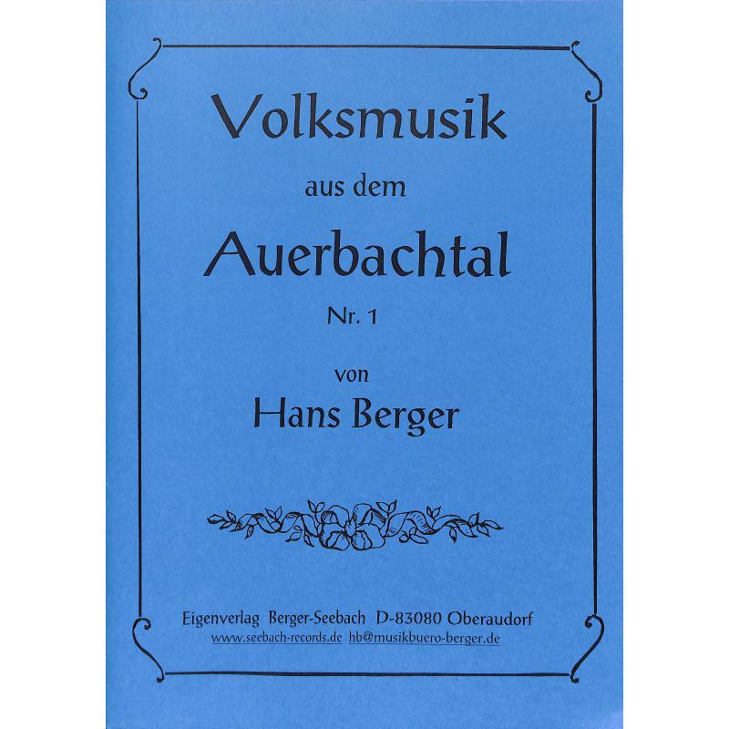 Titelbild für SEEBACH -MVB1080 - VOLKSMUSIK AUS DEM AUERBACHTAL