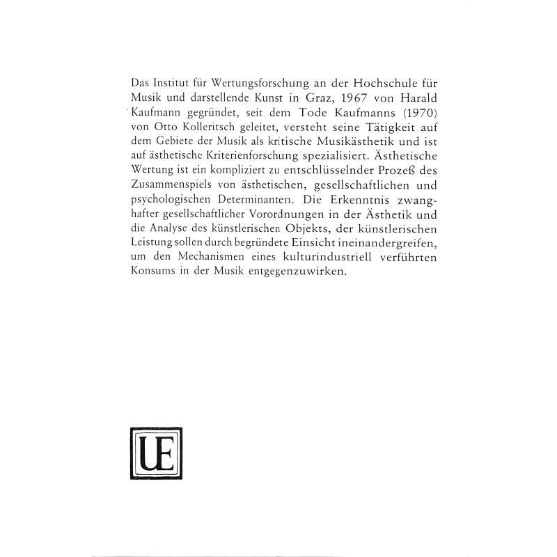 Notenbild für UE 26814 - ZUR NEUEN EINFACHHEIT IN DER MUSIK