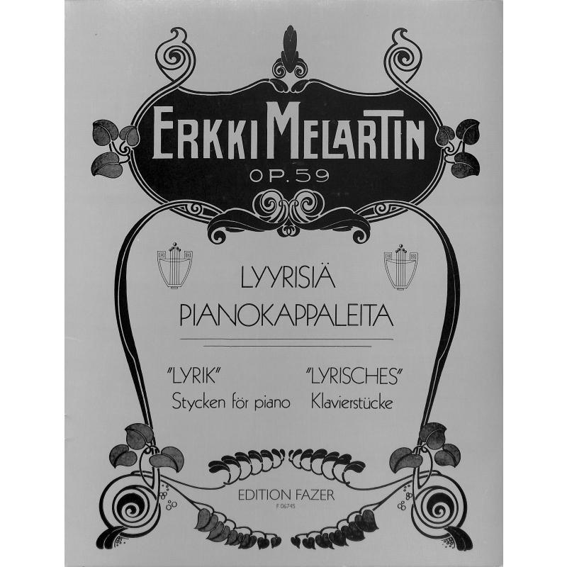 Titelbild für FAZER 06745-1 - LYRIC STYCKEN OP 59 FOR PIANO