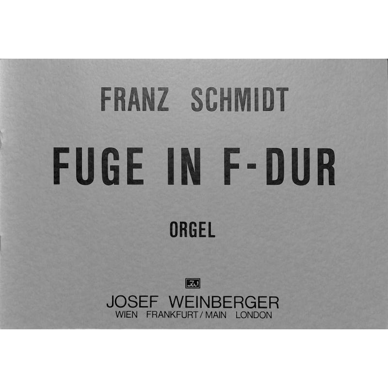 Titelbild für WEINB 207-10 - FUGE F-DUR