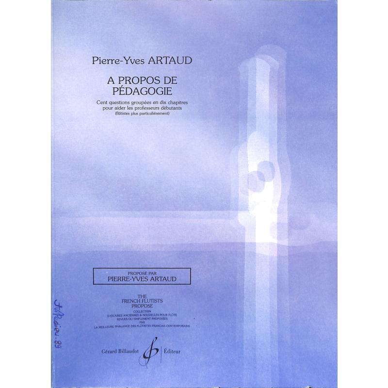 Titelbild für BILL 6028 - A PROPOS DE PEDAGOGIE