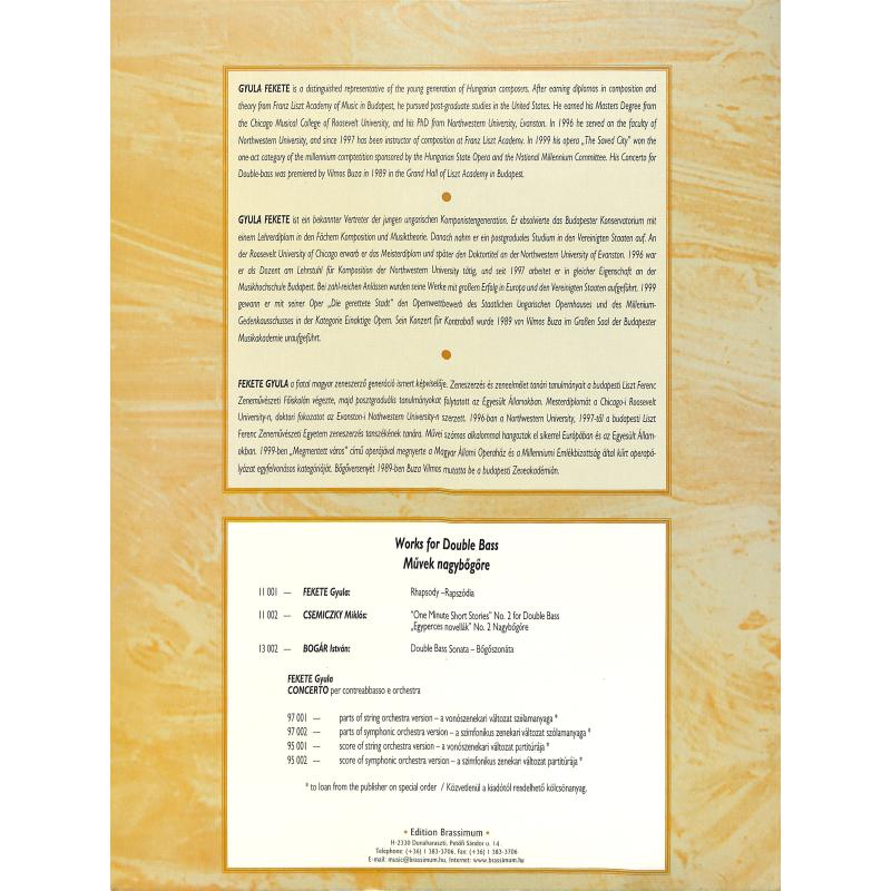 Notenbild für EBR 13001 - KONZERT - KB ORCH