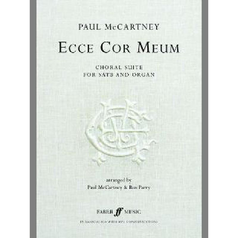 Titelbild für ISBN 0-571-53025-7 - ECCE COR MEUM